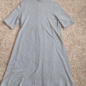 Ribbed mock neck maternity dress NWOT